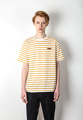 Pepper seasoning페퍼시즈닝 STRIPE T-SHIRT [YELLOW]