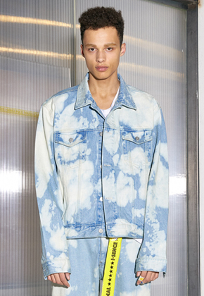 SENCE센스 Cloud Washing Denim Jacket