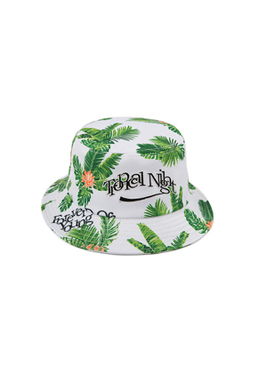 Romantic Crown로맨틱크라운 Tropical Buckets Hat_White