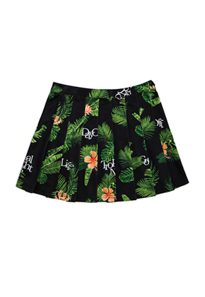 Romantic Crown로맨틱크라운 Tropical Night Skirt_Black