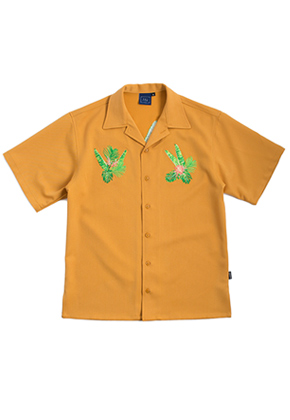Romantic Crown로맨틱크라운 Tropical Night Shirt_Mustard