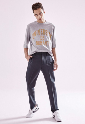 NOHANT노앙 UNIVERSITE DE NOHANT T SHIRT REGULAR GRAY