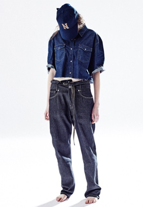 NOHANT노앙 FOLDOVER DENIM PANTS INDIGO