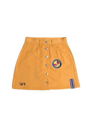 Romantic Crown로맨틱크라운 Day off button skirt_Mustard