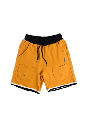 Romantic Crown로맨틱크라운 Sweat Banding Shorts_Mustard