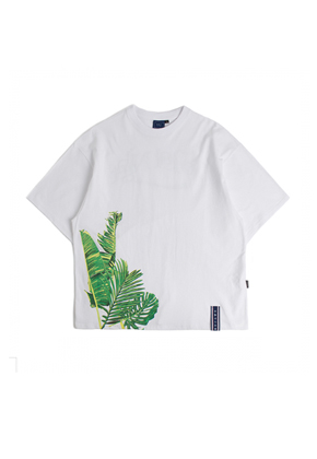 Romantic Crown로맨틱크라운 Tropical Wide T shirt_White