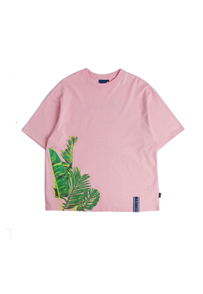 Romantic Crown로맨틱크라운 Tropical Wide T shirt_Pink