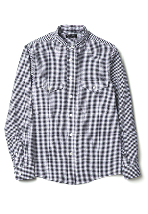 Ballute발루트 STAND COLLAR SHIRT (GINGHAM CHECK)