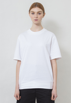 MMGL미니멀가먼츠랩 Rib detail T-shirt  (White,Brown,Black)