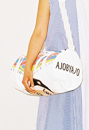 AJO BY AJO아조바이아조 Graphic Duffle Bag (White)