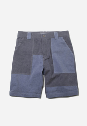 FRIZMWORKS프리즘웍스 Divided panel short _ blue