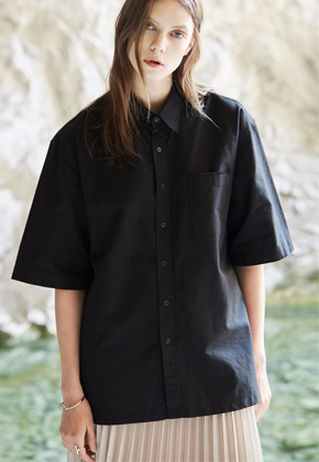 Voiebit브아빗 V400 CUTTING SHIRTSBLACK