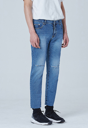 Voiebit브아빗 V103 BOTH SCRATCH JEANSBLUE