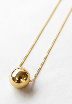 Common Muse커먼뮤즈 NELLE BALL NECKLACE GOLD