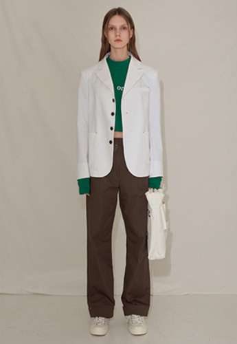 More or Less모어올레스 STITCH COTTON JACKETWHITE