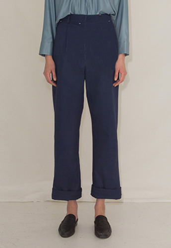 More or Less모어올레스 LONG STITCH COTTON PANTSBLUE