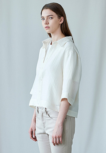 SEC세크 Cropped Half-Sleeve Shirt W