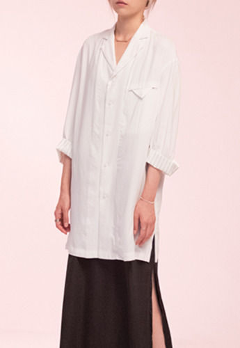 Noirer노이어 노이어 noirer Woman Overfit Tailored Shirts White