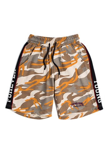Romantic Crown로맨틱크라운 Side Line Sweat Shorts_Camo