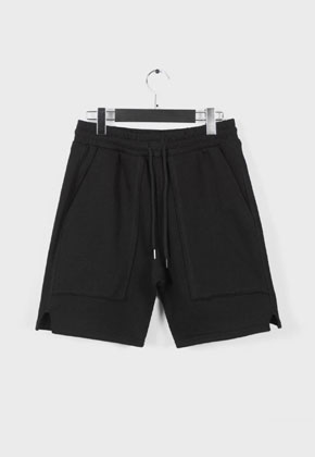 LE SENS DE르센스드 BAD JUDGED SHORTS PANTS BLACK