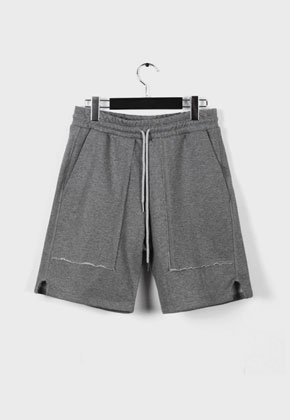 LE SENS DE르센스드 BAD JUDGED SHORTS PANTS GRAY