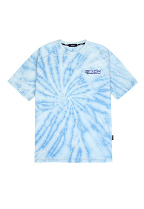 Charm's참스 Tie-dye Small Logo T-shirts Blue