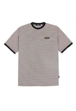 Charm's참스 Stripe Circle Logo T-shirts WH/BR