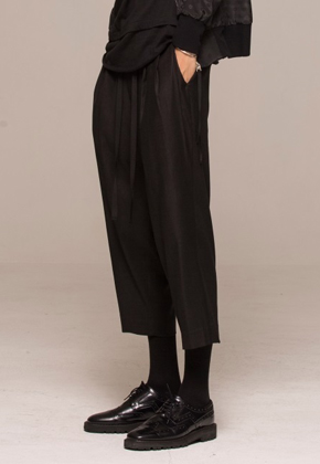 Noirer노이어 MEN Linen Wide Bucket Pants