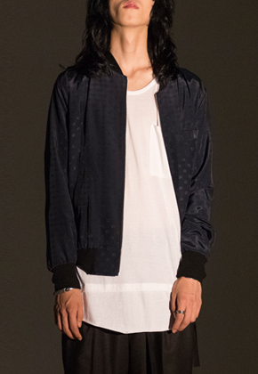 Noirer노이어 노이어 noirer MEN Silk Dot Blouson (Navy)