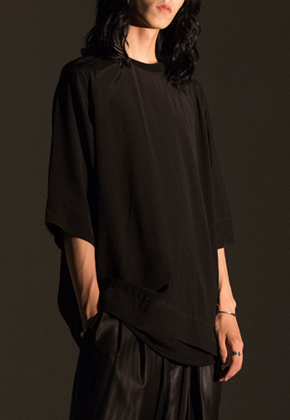 Noirer노이어 MEN Raglan Pullover layering Shirts (Black)