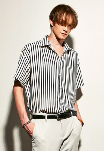 Yan13얀써틴 FEEL SOFT STRIPE SHIRTS_IVORY