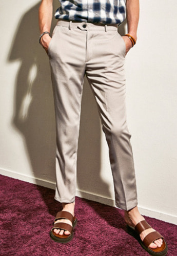 Yan13얀써틴 NOMAL CREAM SLACKS_GRAY