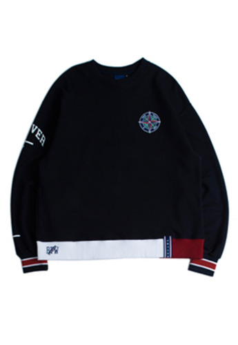 Romantic Crown로맨틱크라운 Forever Young Sweat Shirt_Navy