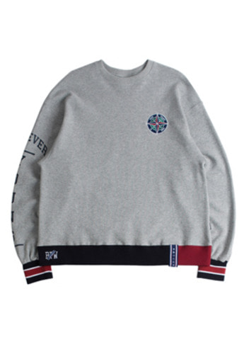 Romantic Crown로맨틱크라운 Forever Young Sweat Shirt_Gray