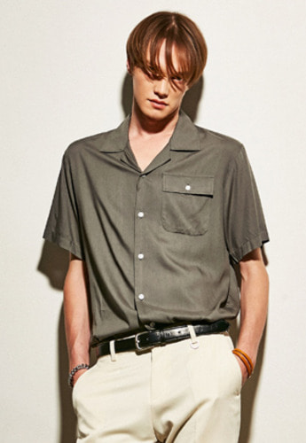 Yan13얀써틴 GENERAL OPEN SHIRTS_KHAKI