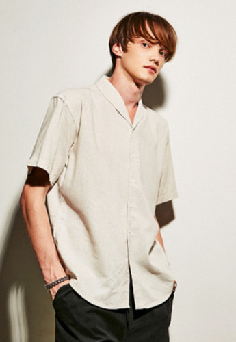 Yan13얀써틴 BASIC LINEN SHIRTS_BEIGE