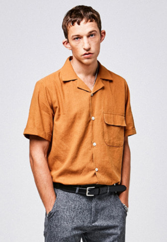 Yan13얀써틴 POCKET OVERFIT SHIRTS_CAMEL