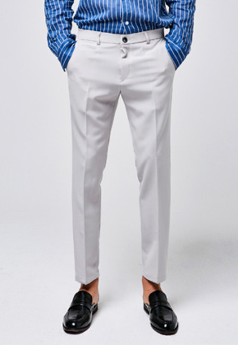 Yan13얀써틴 BUTTON POINT SLACKS_LIGHTGRAY