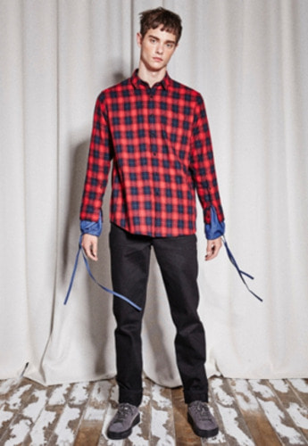 NOHANT노앙 DOUBLE SLEEVE SHIRT RED