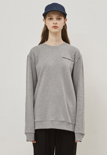 MMGL미니멀가먼츠랩 Semi-Oversized Sweat-shirts (M.Gray,Brown,Black,Navy)