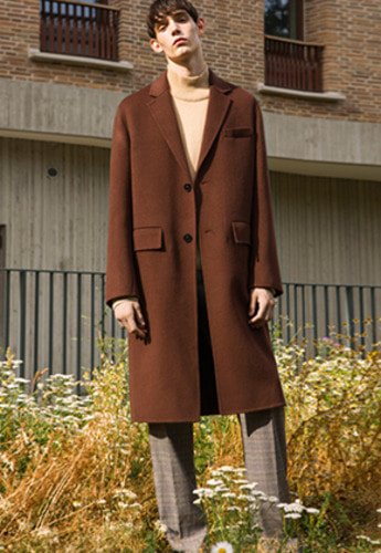 Anderssonbell앤더슨벨 VINCENT HANDMADE WOOL COAT awa114m Brick