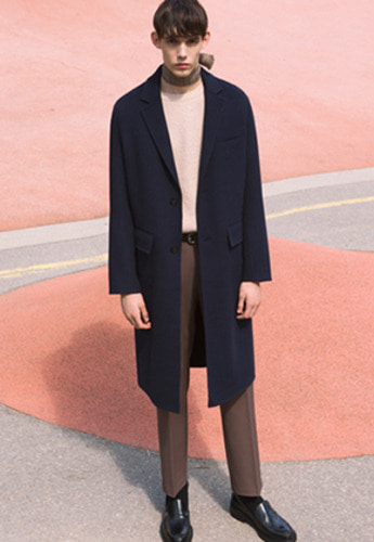 Anderssonbell앤더슨벨 VINCENT HANDMADE WOOL COAT awa114m Navy