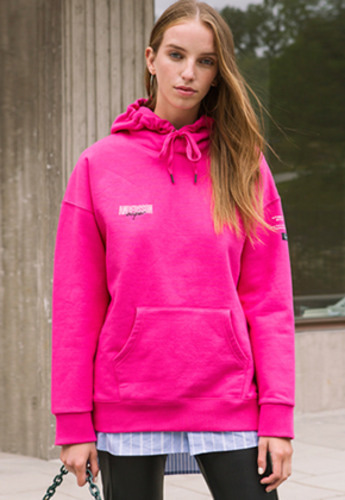 Anderssonbell앤더슨벨 UNISEX LAYER EMBROIDERY HOODIE atb161u Magenta