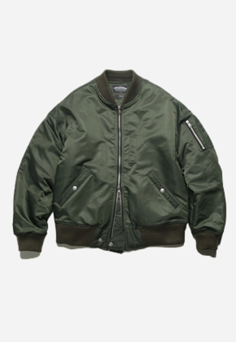 FRIZMWORKS프리즘웍스 Decode MA-1 flight jacket olive