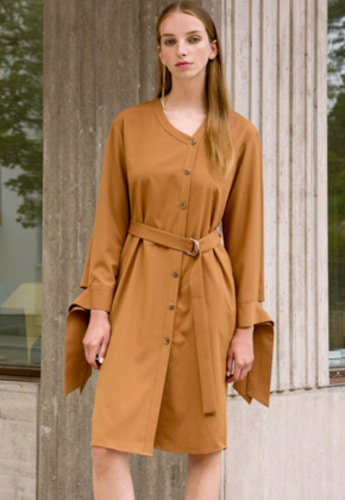 Anderssonbell앤더슨벨 MONACO BELTED DRESS atb159w Brown