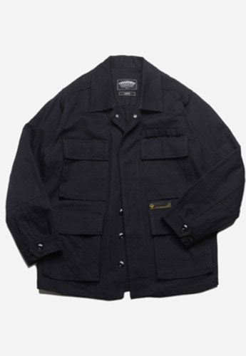 FRIZMWORKS프리즘웍스 Broken twill BDU jacket navy