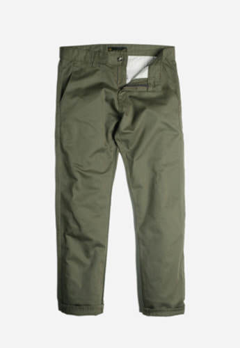 FRIZMWORKS프리즘웍스 Elegant denim slacks olive