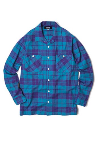SANDPIPER샌드파이퍼 CHECK SHIRTS(PURPLE BLUE)