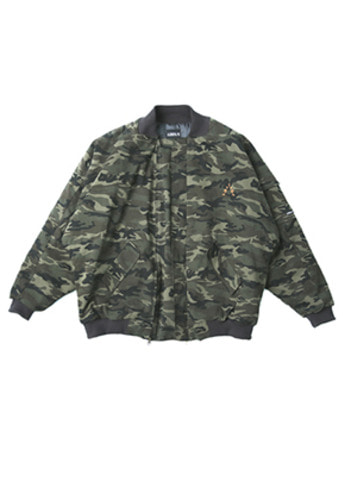 AJO BY AJO아조바이아조 Over Camo Bomber Jacket (Khaki)