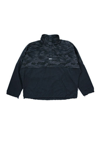 AJO BY AJO아조바이아조 Over Camo Anorak (Black)